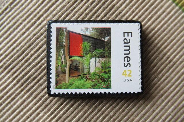 アメリカ 切手ブローチ 6454の画像1枚目