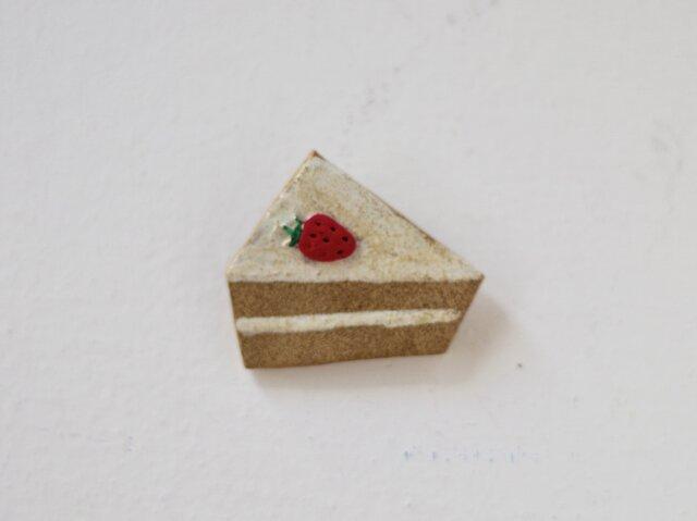 いちごのショートケーキブローチの画像1枚目