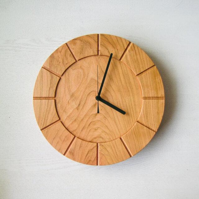 木の時計01(Φ300) No15 | 山桜の画像1枚目