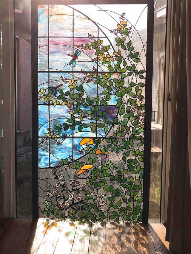 ステンドグラス パネル 初秋の画像1枚目