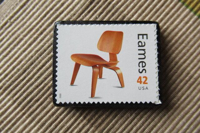 アメリカ 切手ブローチ 6458の画像1枚目