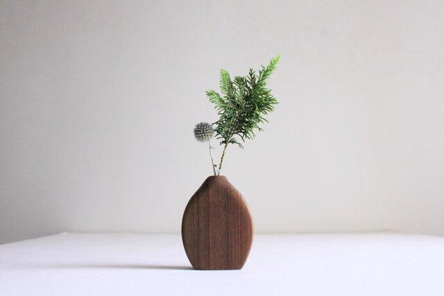 木の花瓶【チーク】の画像1枚目