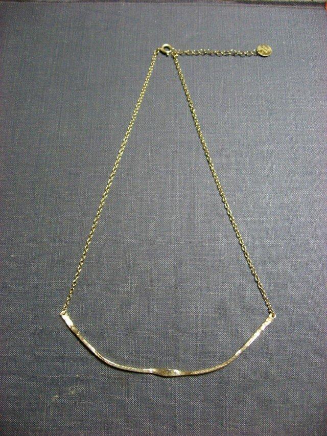 軌跡ネックレス goldの画像1枚目