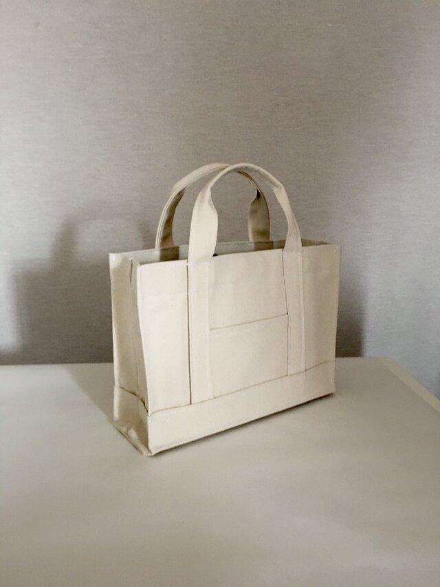 通勤通学トートバッグ「oblong」生成りの画像1枚目