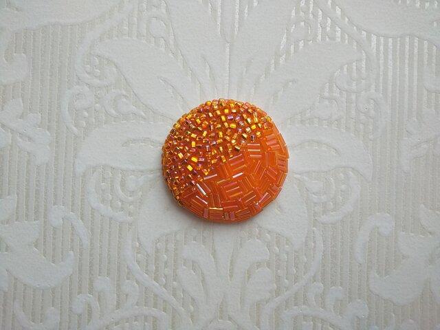 刺繍ブローチ Orangeの画像1枚目