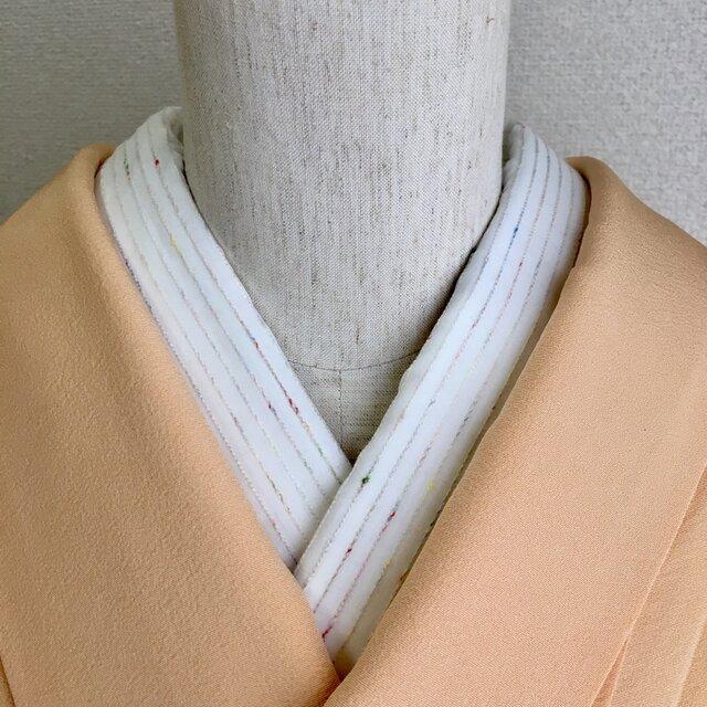 洗える半衿 カラフルネップボーダーの画像1枚目