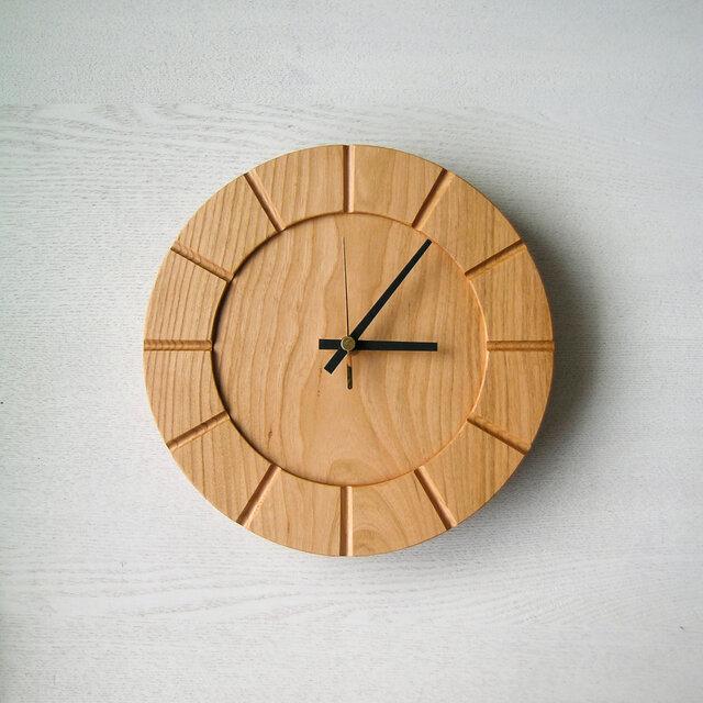 木の時計01(Φ240) No24   山桜の画像1枚目