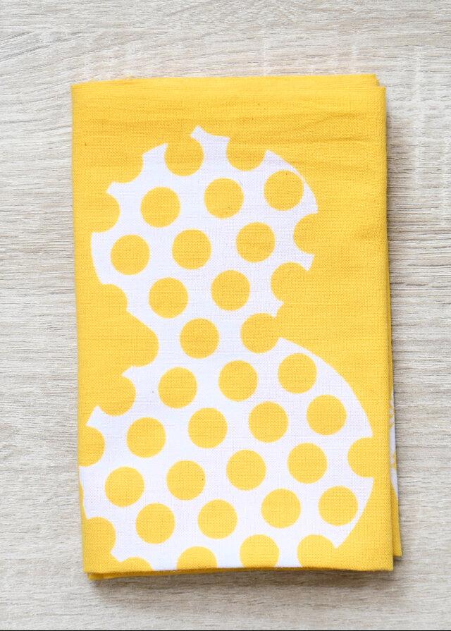 注染てぬぐい・ひょうたん(黄色)× komefuku(コメフク)コラボの画像1枚目