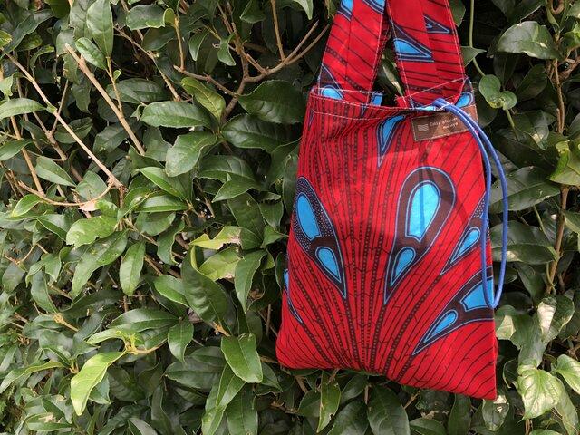 アフリカ布エコバッグ(小)の画像1枚目