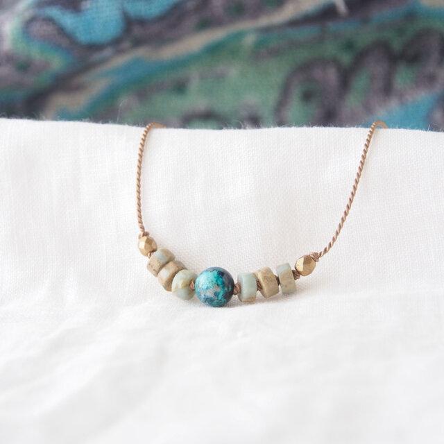 Earth Short Necklace-Blue-の画像1枚目