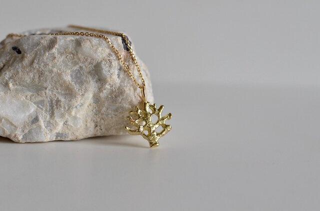 K18ネックレス サンゴの画像1枚目