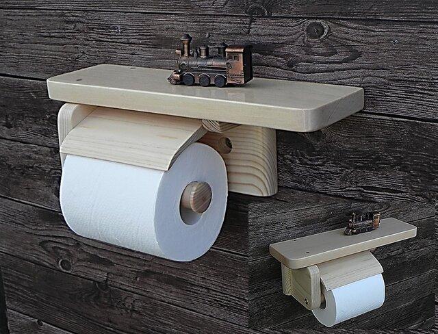 木製トイレットペーパーホルダー Ver.9.1(ナチュラル)の画像1枚目