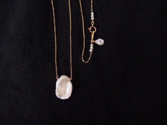 【再入荷】送料無料【K14gf】花びらパールのネックレス・petal pearlの画像1枚目