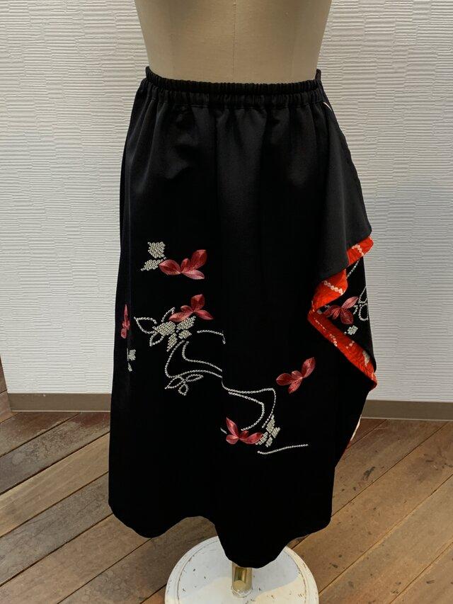 スカート(着物リメイク)(絵羽織)(ゴム入り)の画像1枚目