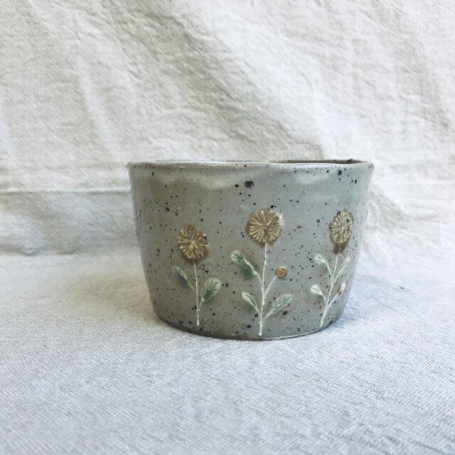 フリーカップ(黄色い花柄)の画像1枚目