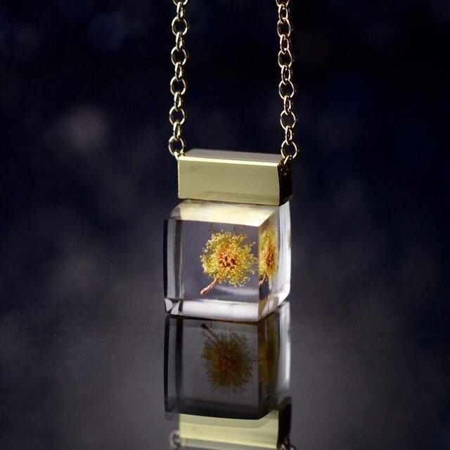 ミモザのプチネックレス 14kgf(無料ギフトラッピング, 誕生日プレゼント, メッセージカード)の画像1枚目