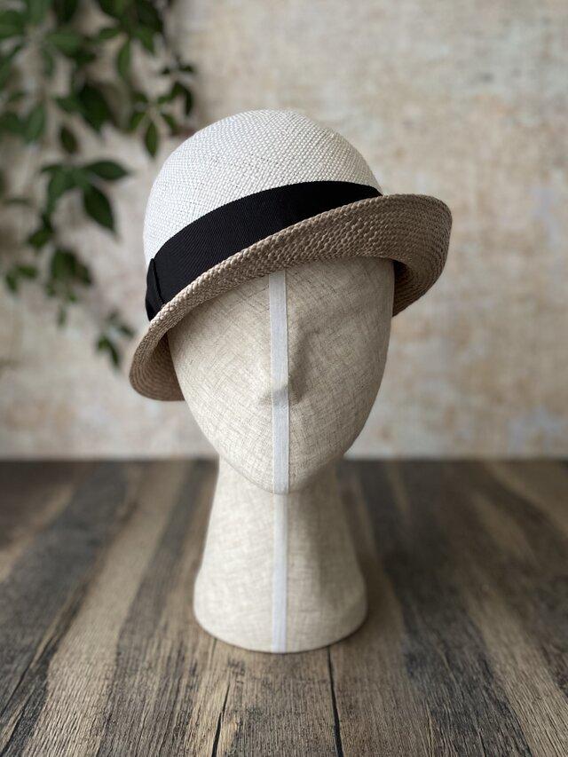 【即納】夏帽 combi white+grayの画像1枚目