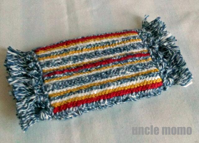 ドール用ツヴィスト刺繍のラグ(玄関・ルームマット)German 1/12ミニチュア・ファブリックの画像1枚目