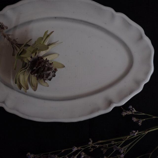 fleur オーヴァル皿 25cmの画像1枚目