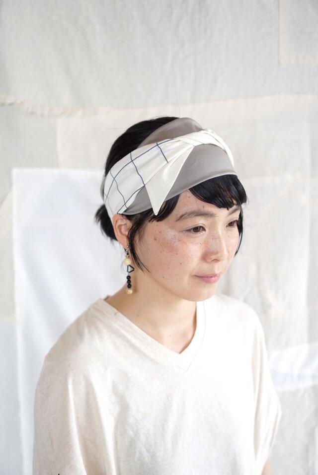 ○受注アイテム○patchwork turban (cotton mix 20ss-g)の画像1枚目