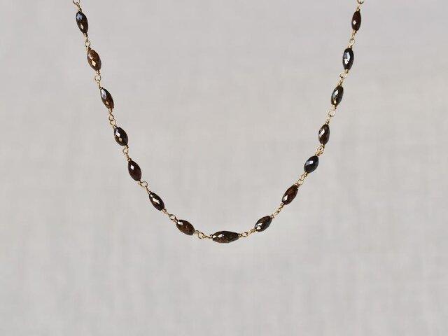Chocolate diamonds eternity braceletの画像1枚目