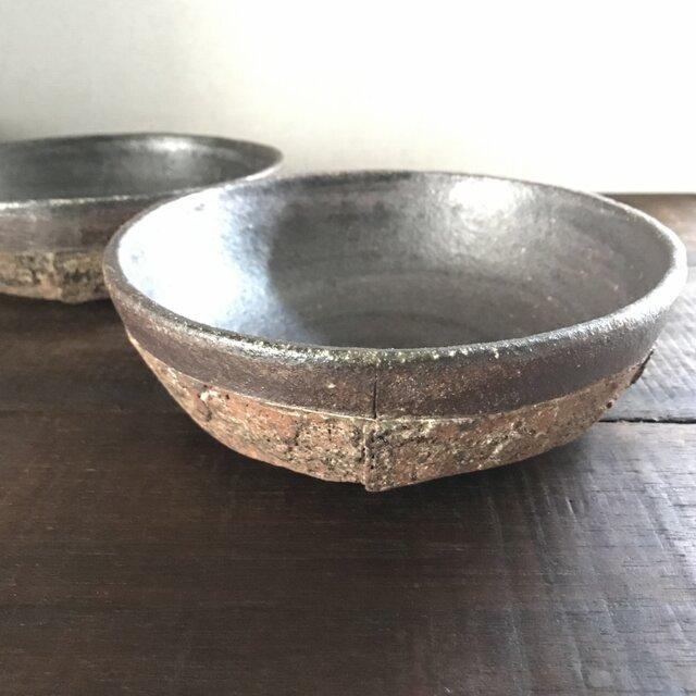 焼締「纏」中深鉢(シリアルボウル)の画像1枚目