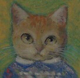 編み込み模様のセーターの子ねこの画像1枚目