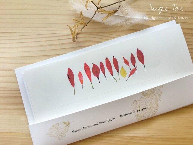 いろいろな葉っぱ リニューアル一筆箋の画像1枚目