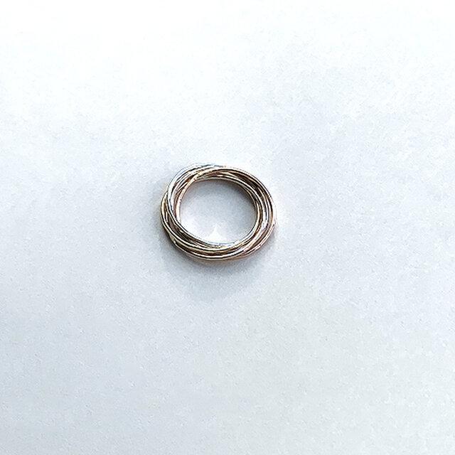 五色五連指輪 rr-134の画像1枚目
