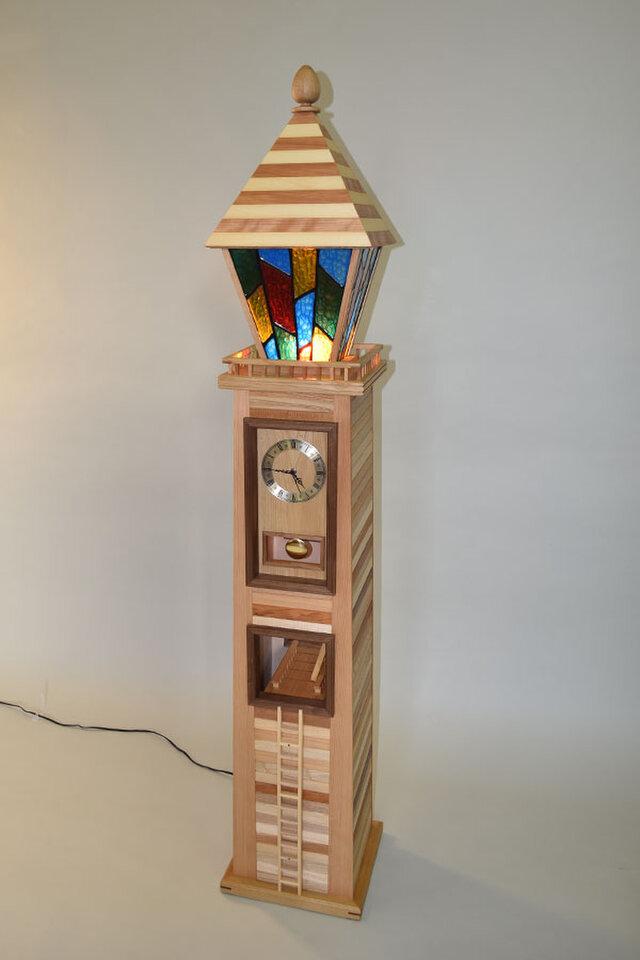 街を照らす時計塔Ⅱ 時計台 振り子時計 ランプの画像1枚目