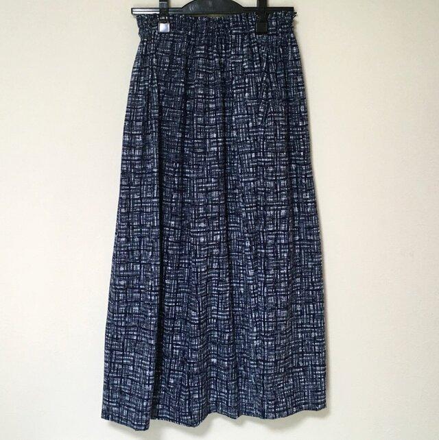 浴衣リメイク N ギャザースカート  着物 コットン 浴衣スカートの画像1枚目