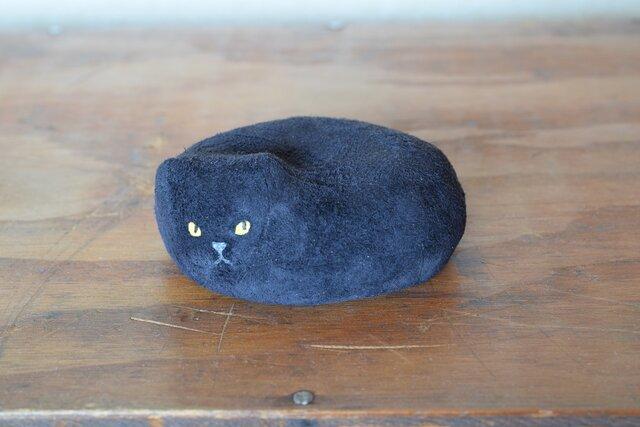 革張り子 黒猫の画像1枚目