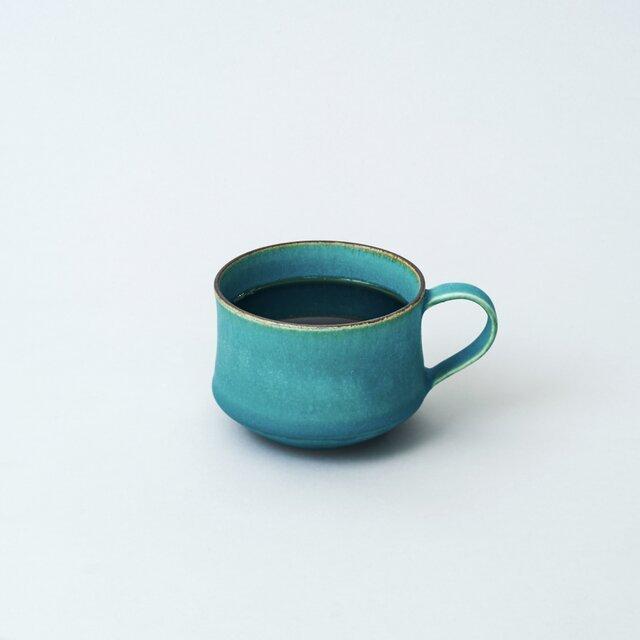 スタッキングできるマグカップ コーヒーカップ(ターコイズブルー/トルコ青)の画像1枚目
