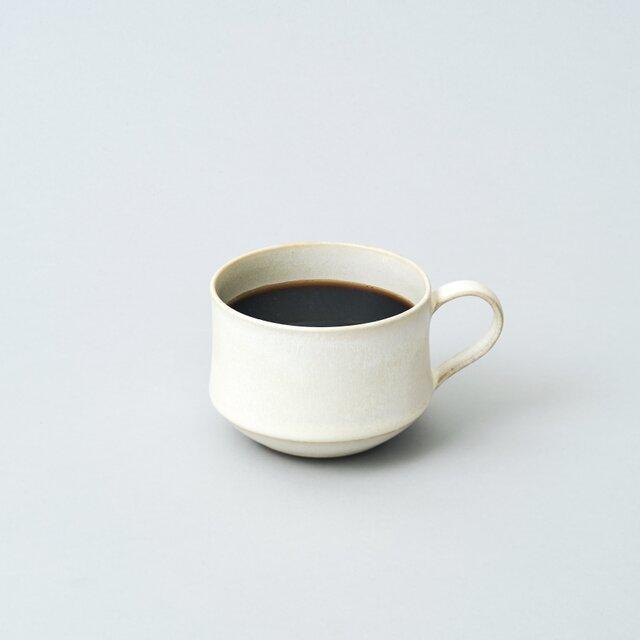 スタッキングできるマグカップ コーヒーカップ (パール/白)の画像1枚目