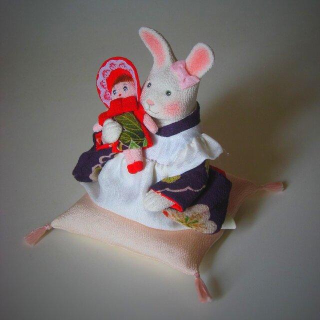 縮緬福兎 お人形 その二の画像1枚目