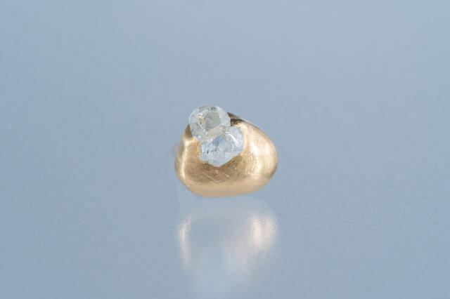 【D様オーダーフォーム】ゆきだるまダイヤモンド原石 ブローチ→ネックレスへの画像1枚目