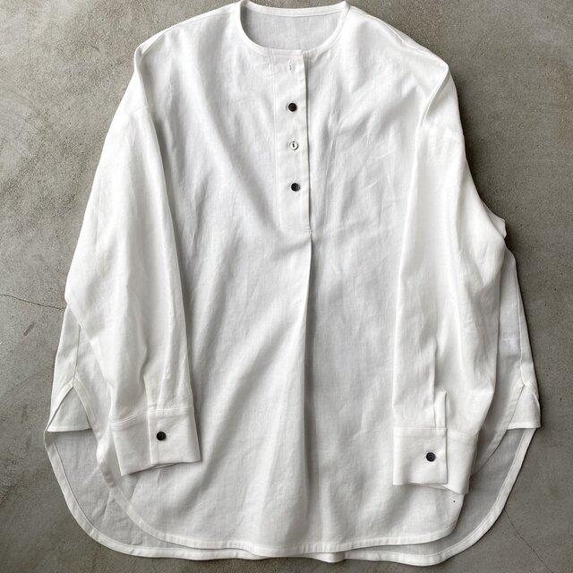 コットンリネンのシャツ ホワイト No.134の画像1枚目