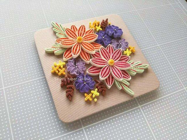 ペーパークイリング キット:秋色の花集めの画像1枚目