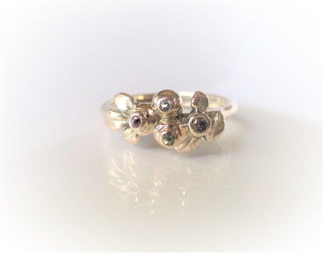 「M様オーダーメイド ブルーベリーのK10の指輪」の画像1枚目
