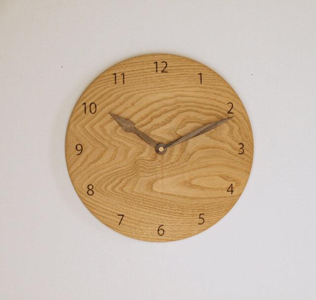 木製 掛け時計 丸 栗材9の画像1枚目