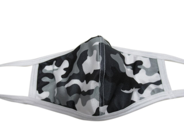 立体シーム・カーブ型プリント水着マスク・迷彩(グレー)の画像1枚目