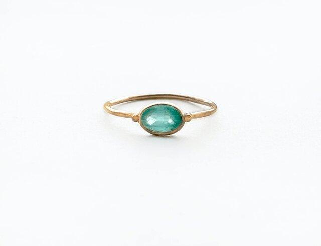 一点もの k18 Emerald delicate リングNo.6/ 受注制作の画像1枚目