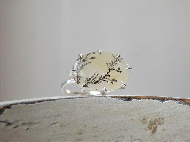 SVデンドライトクォーツのリングの画像1枚目
