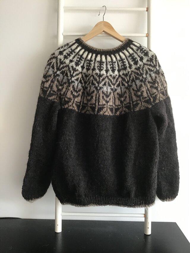 アイスランドロピ 手編みセーター グラデーションの画像1枚目
