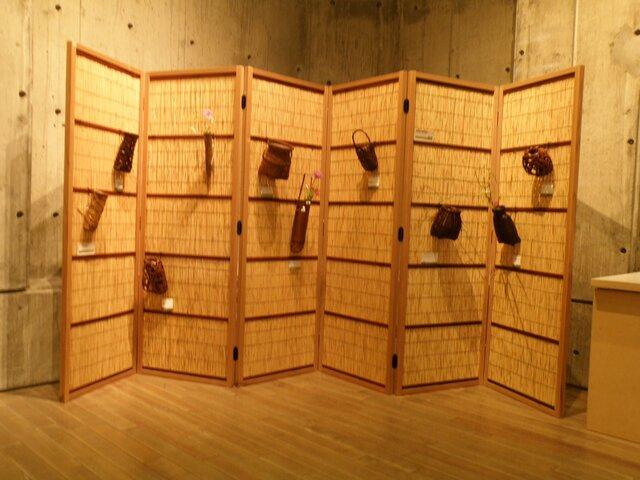 花寄せ屏風 6枚折 七事式 仕切り 茶道具の画像1枚目
