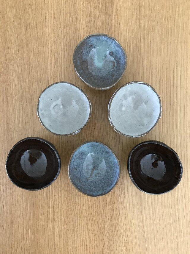 豆鉢 (あめ釉薬在庫)の画像1枚目
