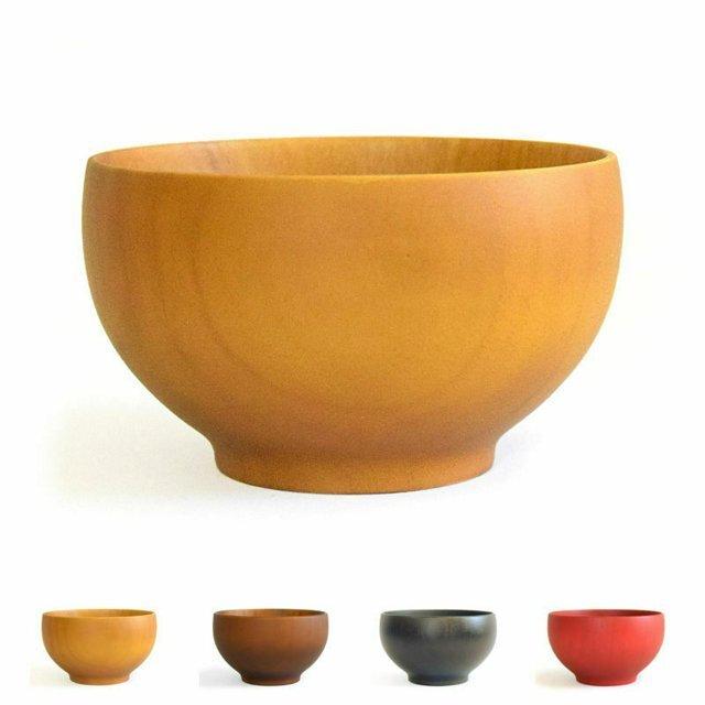 食洗機対応 山中塗り Rev.和カラー 箱入り 木製 ボウル 汁椀 選べる4色  食器 ウッドの画像1枚目