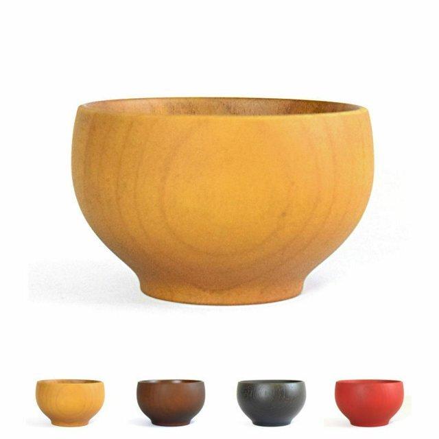 食洗機対応 山中塗り Rev.子供ボウル和カラー 箱入り 木製  選べる4色  食器 ウッドの画像1枚目