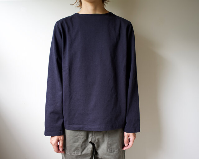pablo cotton/center back long sleeve tshirt /navy/size1・2・ 3の画像1枚目