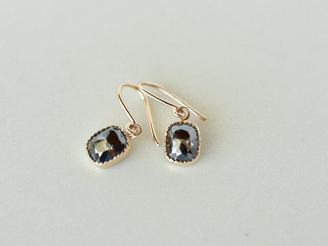 Ombre Diamond Earrings Night Skyの画像1枚目